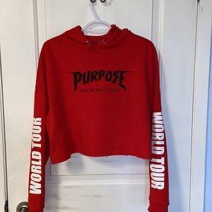 NWOT Cropped H&M Justin Bieber Purpose Tour Hoodie